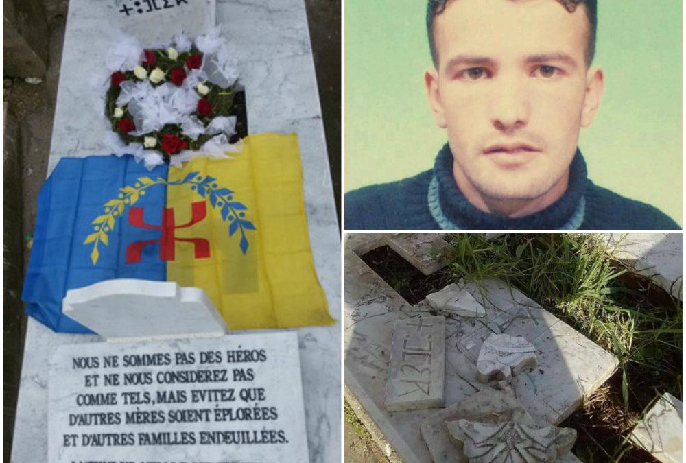 Réparation de la tombe vandalisée du jeune martyr kabyle Toufik Naamane