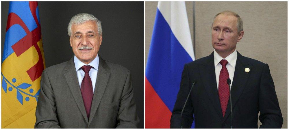 Message de félicitations de Ferhat Mehenni à Vladimir Poutine