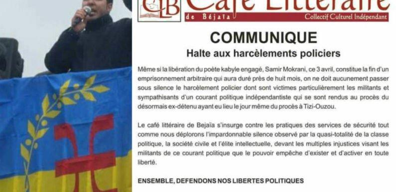 Harcèlement policier algérien : Le MAK-Anavad salue la réaction du Café littéraire de Vgayet