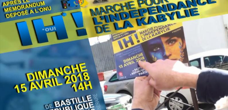 Vidéo : Appel aux marches pour l'indépendance de la Kabylie