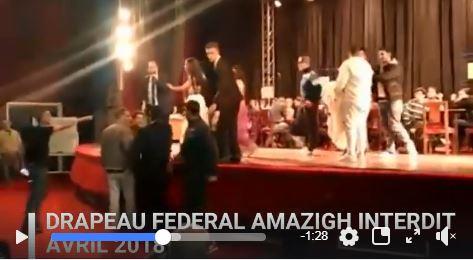 Vidéo : Le drapeau fédéral amazigh interdit à la maison de la Culture Mouloud Mammeri de Tizi-Ouzou