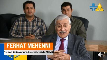 TaqVaylit.TV : Le Président Ferhat Mehenni appelle le peuple kabyle à marcher pour l'indépendance de la Kabylie