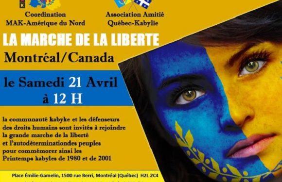 Marche de la liberté de la diaspora kabyle d'Amérique du Nord à Montréal, Printemps Kabyles
