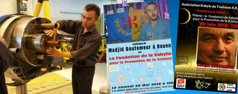 Sciences : Conférences de Madjid Boutemeur à Rouen et Toulouse
