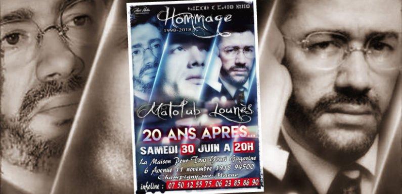 Samedi 30 juin à 20h :  Hommage à Matoub Lounès à Champigny-sur-Marne