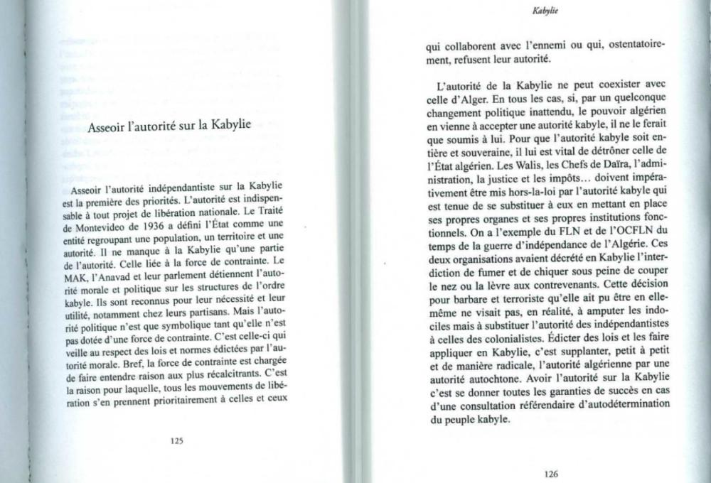 """Extrait de """"Kabylie : Mémorandum pour l'indépendance"""" Auteur : Ferhat Mehenni Editeur : Fauves éditions (03 novembre 2017)"""