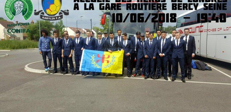 L'équipe nationale kabyle de football attendue demain dimanche à 19h40
