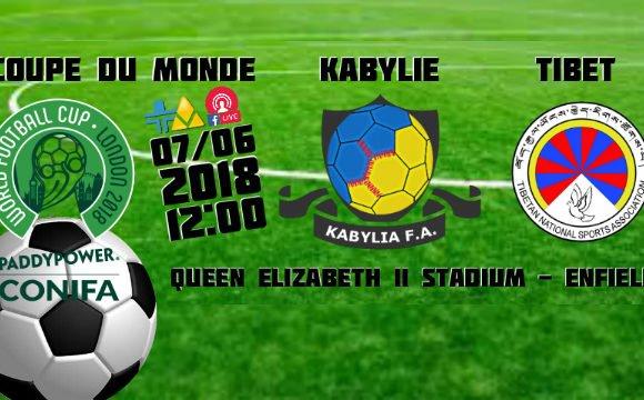 Jour de match : Kabylie – Tibet ce jeudi midi à Enfield