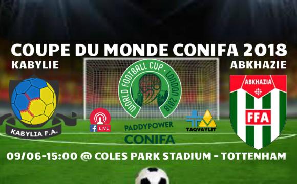 Jour de match : Kabylie – Abkhazie à Tottenham ce samedi 09 juin à 15h