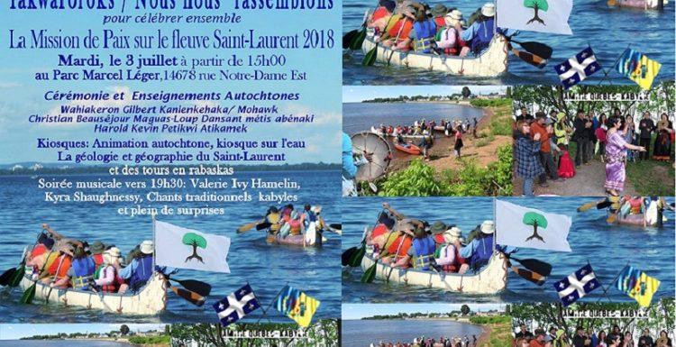 La communauté kabyle à l'édition 2018 de La Mission de Paix sur le fleuve Saint-Laurent à Montréal