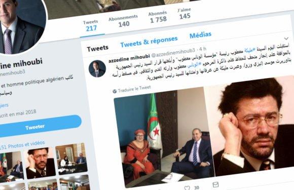 Malika Boukhtouche, née Matoub, reçue par le ministre algérien de la Culture