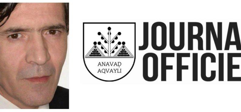 Paru au Journal Officiel de l'Anavad : Décret portant nomination du président de Médias Kabyles Associés