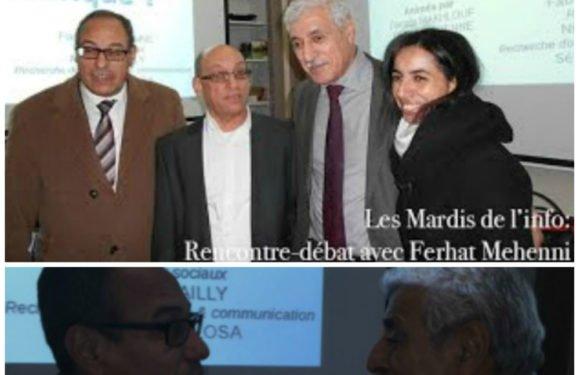 Hicham Aboud témoigne sur Ferhat Mehenni sur une chaîne de télévision algérienne