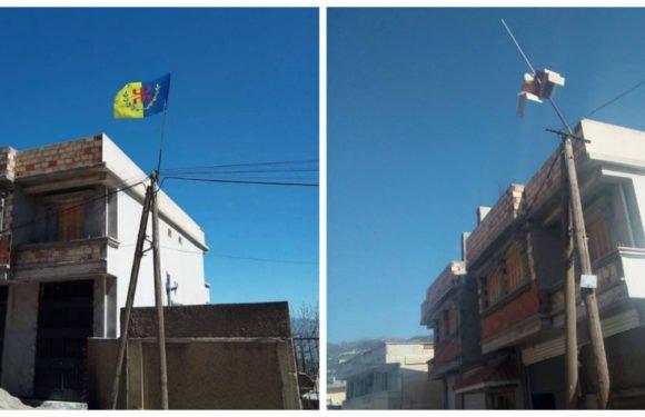 Drapeau kabyle : l'emblème national kabyle volé à Tifrit