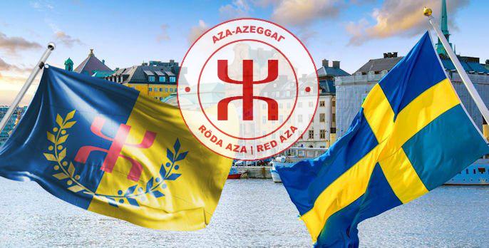 Röda-Aza Sverige, Aza-Rouge Suède est née