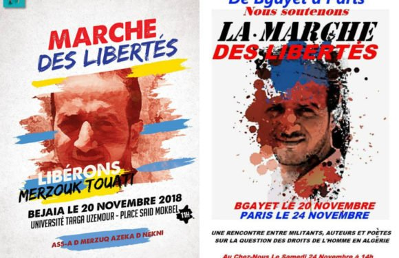 Marche et rencontre des Libertés à Vgayet et Paris pour exiger la libération des détenus politiques en Algérie