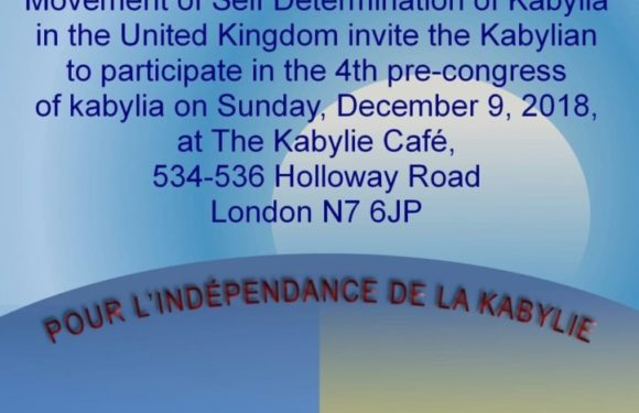 Pré-Congrès du MAK Royaume Uni ce dimanche 9 décembre à Londres