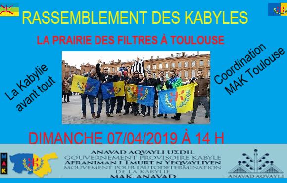 Rassemblent de la communauté kabyle à Toulouse