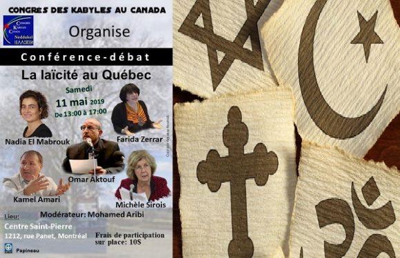 Le Congrès des Kabyles du Canada organise une conférence sur la laïcité au Québec