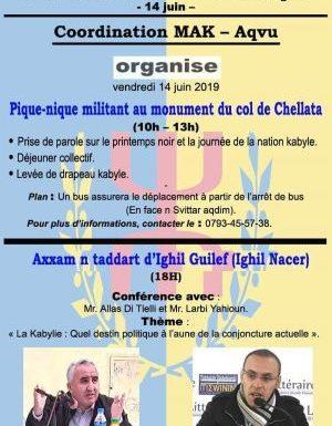 Aqvvu s'apprête à célébrer la journée de la nation kabyle