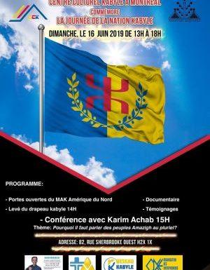 Montréal se prépare à célébrer la journée de la Nation kabyle
