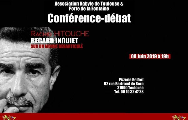 Conférence avec le poète et romancier Rachid Hitouche, regard inquiet sur un monde désarticulé