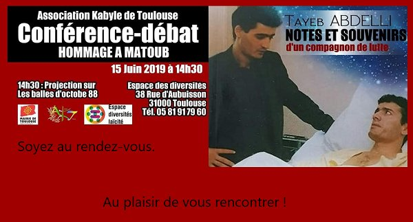 L'Association Kabyle de Toulouse organise un hommage au grand chanteur engagé Matoub Lounes