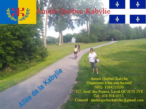 Nomination d'un lieu public lavallois au nom de la Kabylie