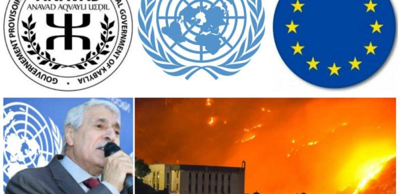 Kabylie : L'Anavad appelle l'ONU et l'UE au devoir d'ingérence écologique