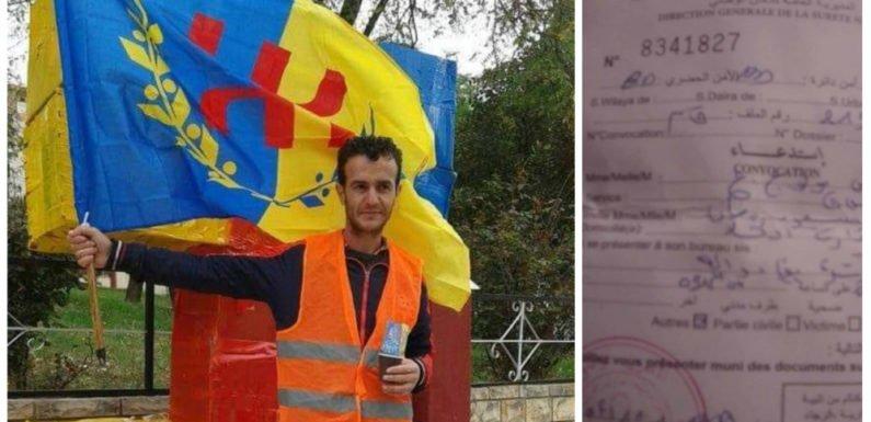 Le militant du MAK Ṛemḍan Simud harcelé par la police coloniale algérienne