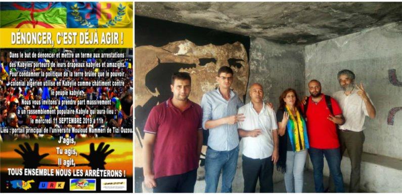 MAK, URK, CMA, CMKDDH : Rassemblement unitaire le 11 septembre : « Nous ne vous laisserons pas détruire la Kabylie »