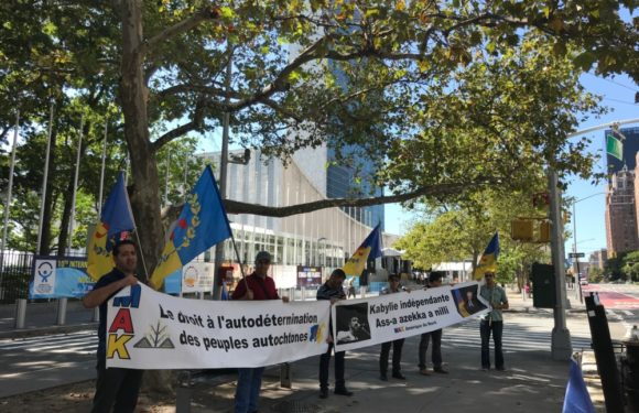 Kabyle rallye in New York: Statement read in front of the UN