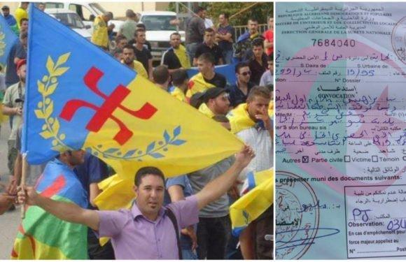 Le militant indépendantiste kabyle Massyl Megatti harcelé par la police coloniale algérienne