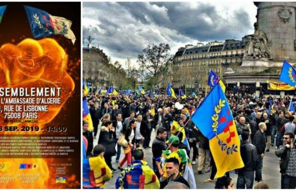 Rassemblement kabyle unitaire devant l'ambassade d'Algérie à Paris dimanche 08 septembre