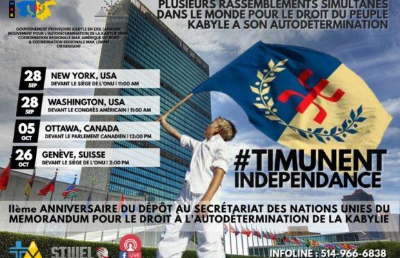 Internationalisation du droit du peuple kabyle à son autodétermination