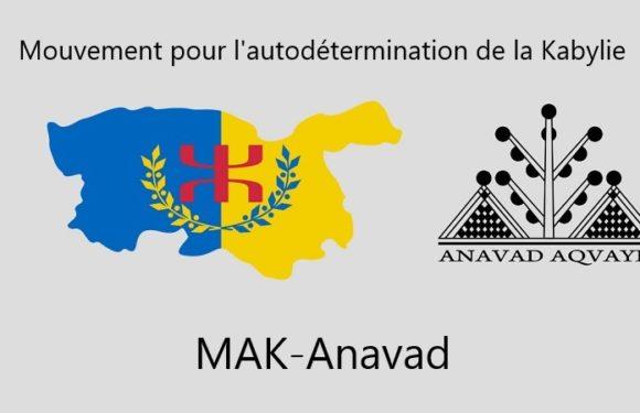 Nous sommes la Kabylie, nous sommes le MAK-Anavad