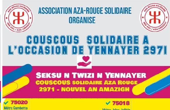 L'AZA-ROUGE LANCE L'OPÉRATION COUSCOUS SOLIDAIRE YENNAYER 2971 SOUS LE SIGNE DE LA SOLIDARITÉ