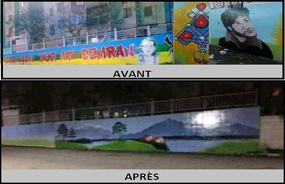 L'EFFACEMENT DES GRAFFITIS PRO KABYLE SUSCITE L'IRE DES HABITANTS D'AIT AMRANE