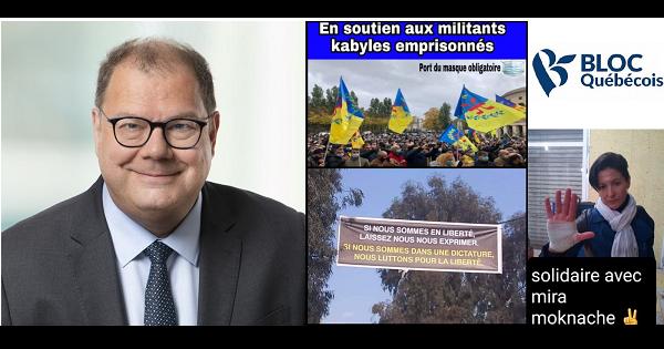LE DÉPUTÉ DU BLOC QUÉBECOIS DÉNONCE LA RÉPRESSION POLICIÈRE DES MILITANTS INDÉPANDANTISTES EN KABYLIE