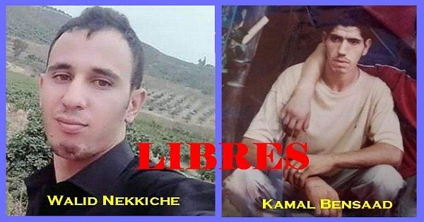 RELAXE POUR KAMEL BENSAAD ET LIBERATION DE  WALID NEKKICHE APRES UNE INCROYABLE PARODIE DE JUSTICE