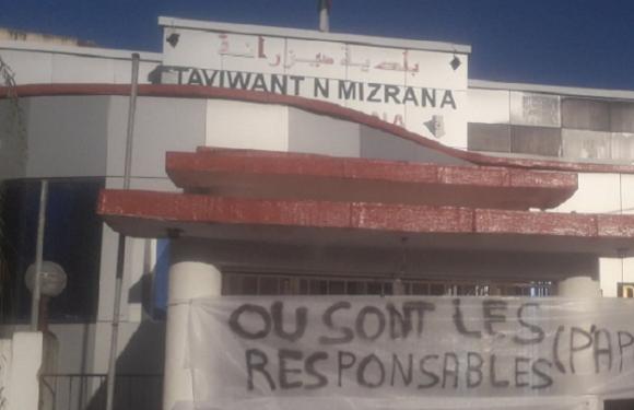 LA MAIRIE DE MIZRANA FERMÉE PAR LES CITOYENS