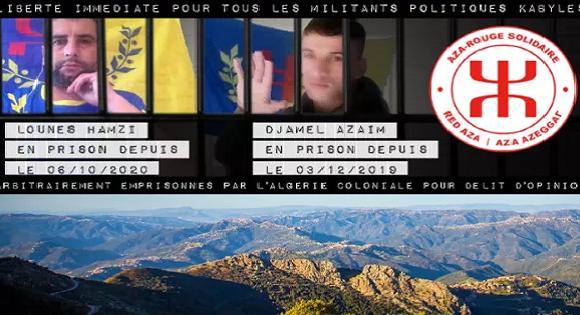 L'Aza-Rouge lance une collecte de fonds en faveur des détenus et militants kabyles et leurs familles
