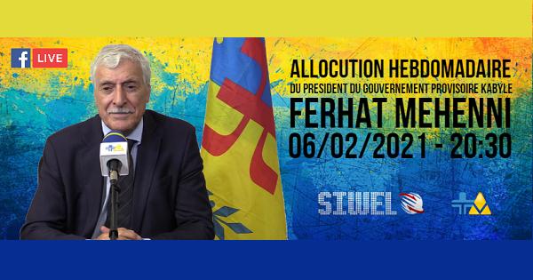 RETOUR SUR L'INTERVENTION TÉLÉVISÉE DE MAS ASSELWAY FERHAT MEHENNI DU 6/02/2021