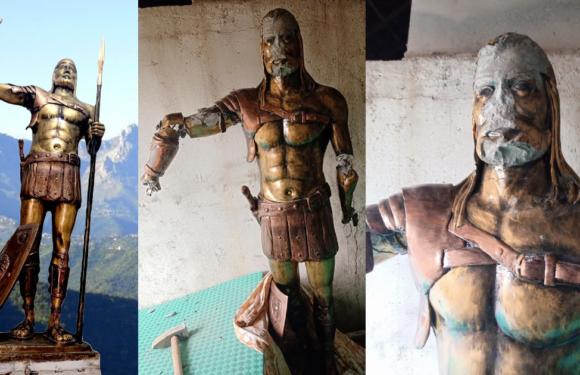 La statue du héros amazigh Aksel (Koceila) vandalisée à quelques jours de son inauguration