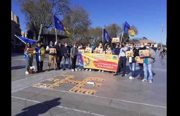 RASSEMBLEMENT DE LA COORDINATION MAK SUD-FRANCE EN SOUTIEN AUX DÉTENUS KABYLES