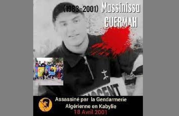 LE 18 AVRIL 2001 : L'ASSASSINAT DE GUERMAH MASSINISSA À L'INTÉRIEUR D'UNE BRIGADE DE LA GENDARMERIE COLONIALE