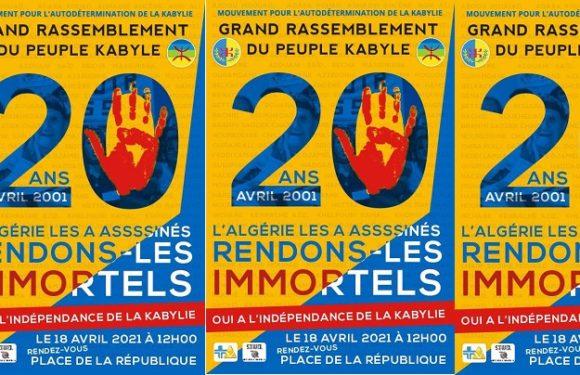 COMMÉMORATION DES PRINTEMPS KABYLES: APPEL  À UN RASSEMBLEMENT À PARIS DIMANCHE 18 AVRIL À 13H00