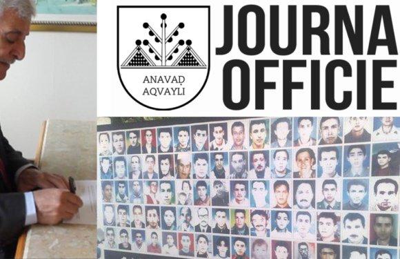 Paru au Journal Officiel de la Kabylie : Décret portant classification de l'État algérien en tant qu'État terroriste