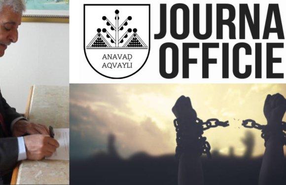 Paru au Journal Officiel de la Kabylie : Décret portant création de la Commission de soutien aux détenus