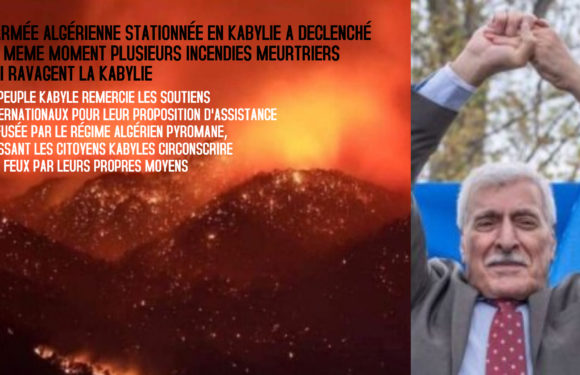 Incendies meurtriers déclenchés par le régime algérien : Remerciements de la Kabylie au soutien international